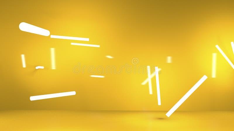 Pomarańczowy tło z pasków światłami obraz royalty free