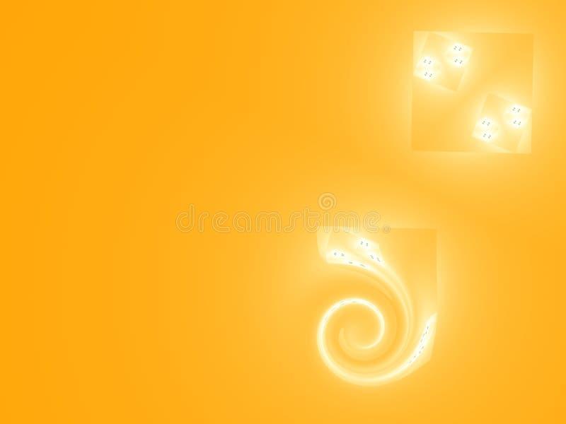 Pomarańczowy tło z spiralą ilustracja wektor