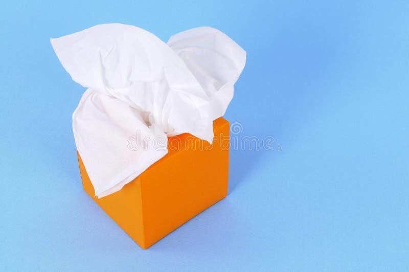 Pomarańczowy tkanki pudełko obraz stock