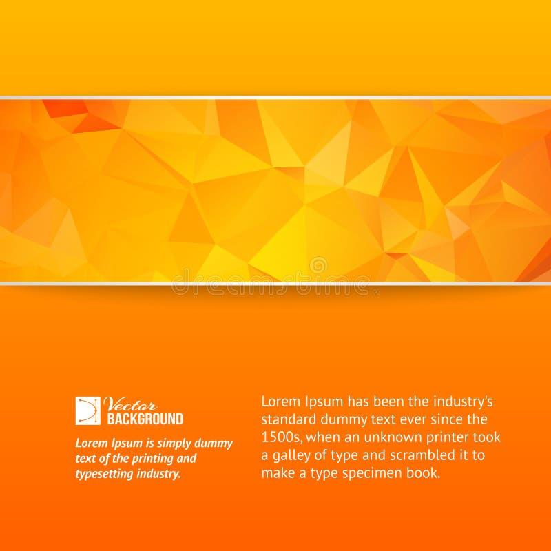 Pomarańczowy trójboka sztandar. royalty ilustracja
