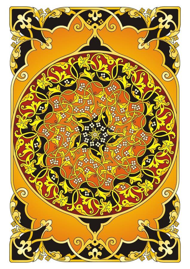 """Pomarańczowy Wschodni ornamentu â """"– 1004 ilustracja wektor"""
