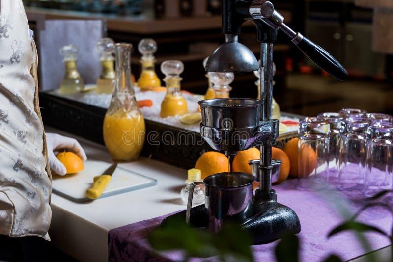 pomarańczowy wyciskacz zdjęcie royalty free