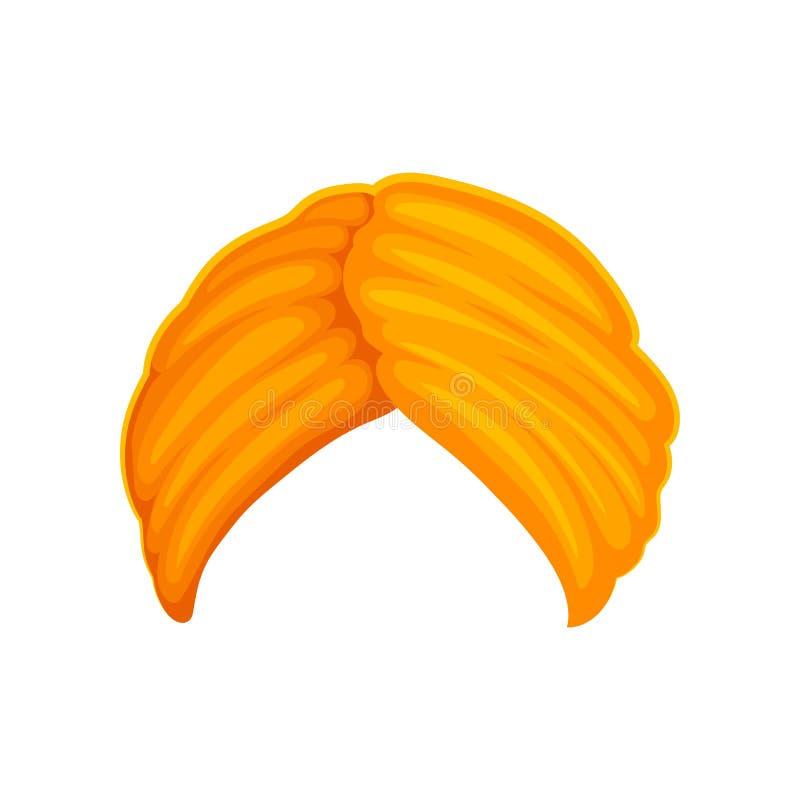 Pomarańczowy wysoki turban t?a ilustracyjny rekinu wektoru biel ilustracja wektor