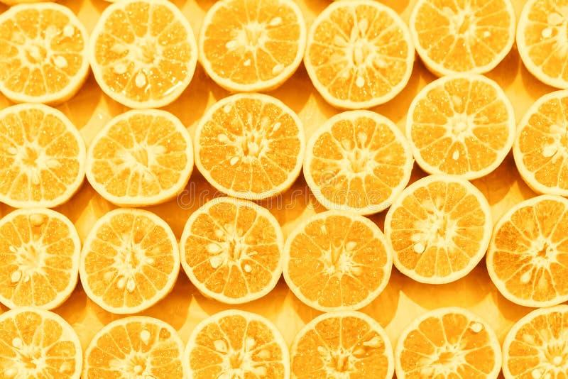 Pomarańczowy wzór colorized plasterka wystrzału sztuki tło fotografia royalty free