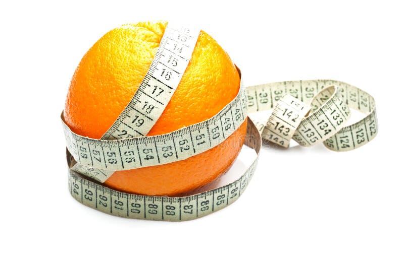 Pomarańczowy zdrowie przegrywania ciężar zdjęcie stock