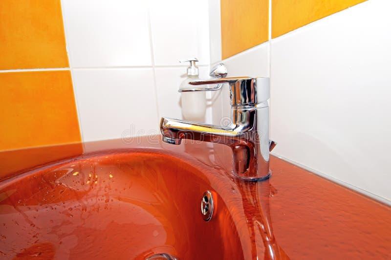 pomarańczowy zlew obrazy stock