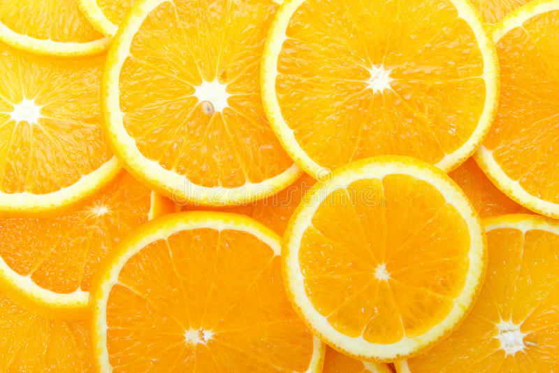 Pomarańczowi plasterki