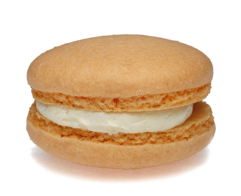 Download Pomarańczowy Macaron zdjęcie stock. Obraz złożonej z jedzenie - 28037702