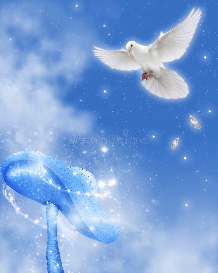 Pomba 1 da paz ilustração royalty free