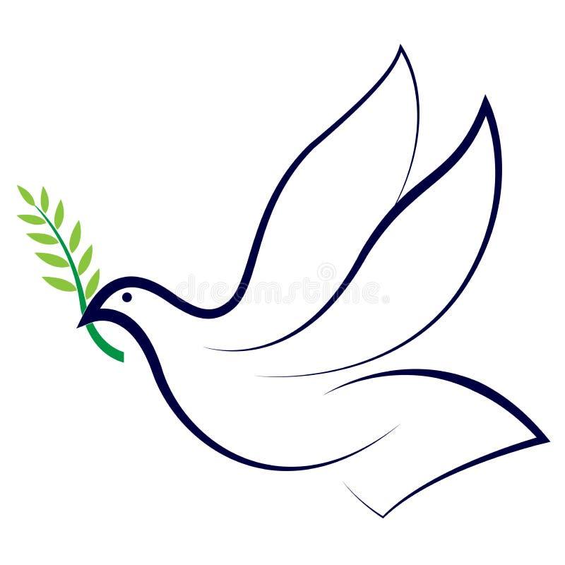 Pomba da paz ilustração royalty free