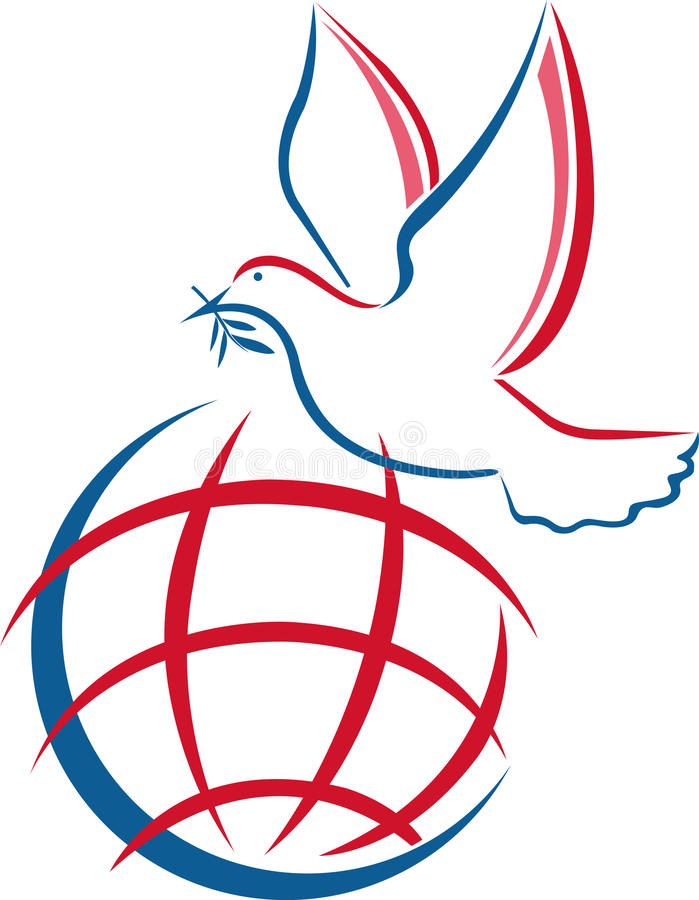 Pomba da paz ilustração stock