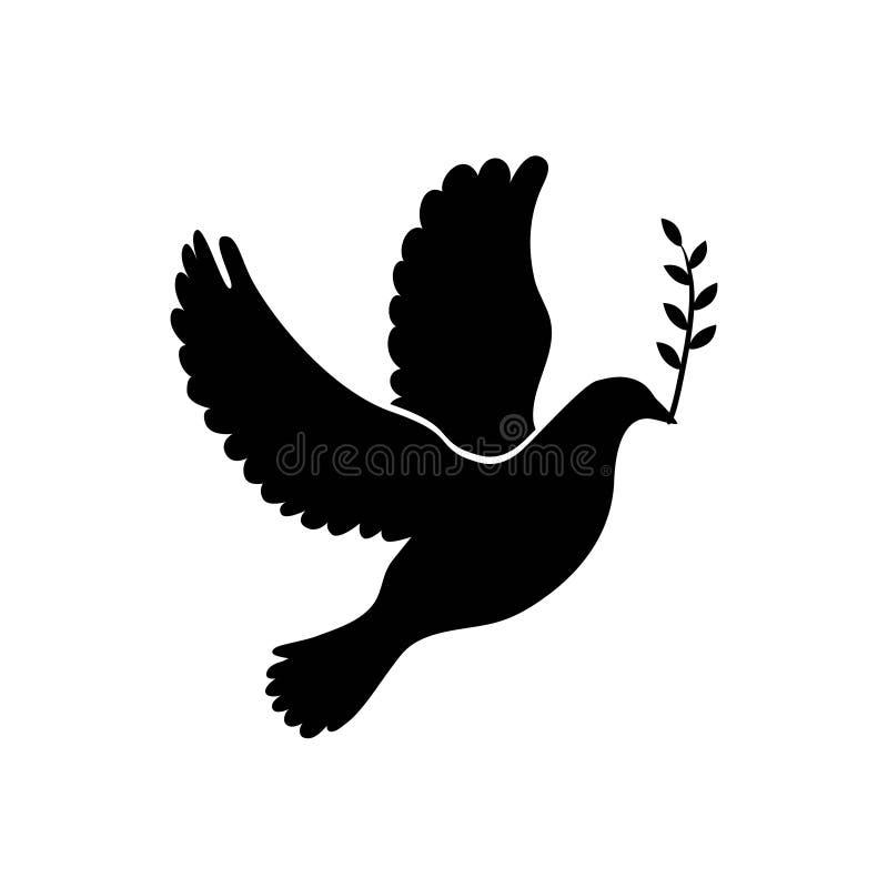 Pomba do ícone simples da paz Vetor ilustração do vetor
