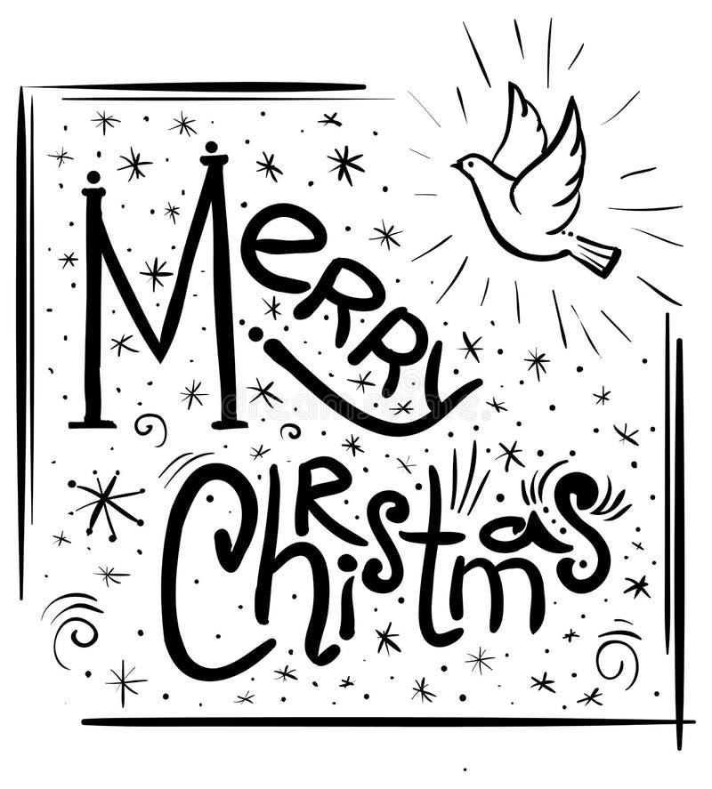 Pomba do cartão do Feliz Natal ilustração stock