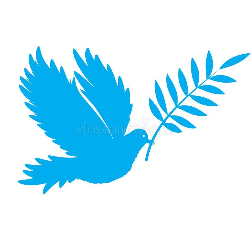 Pomba do pássaro do vetor da paz ilustração do vetor