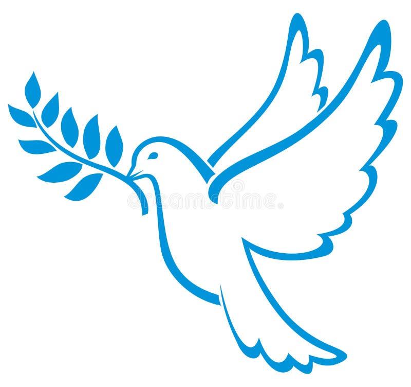 Pomba do vetor da paz ilustração stock