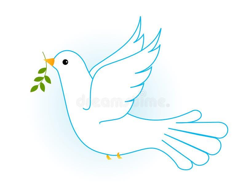 Pomba/pombo do branco ilustração do vetor