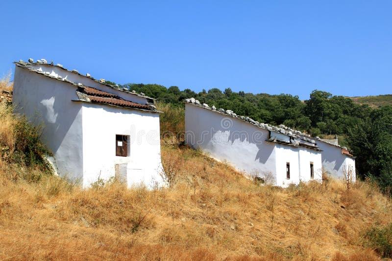 Pombais bianchi tradizionali nel Nord del Portogallo fotografia stock
