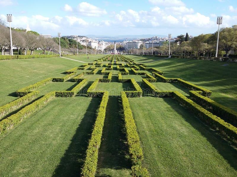 Pombal Lissabon royaltyfria foton