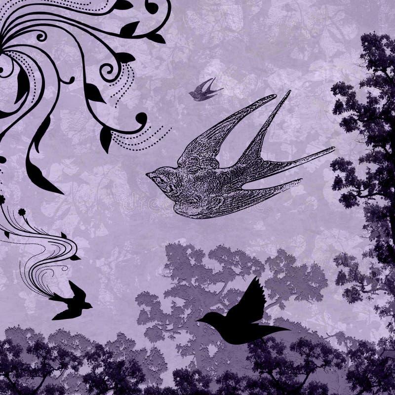 Pombas do amor do Splatter do Grunge ilustração do vetor