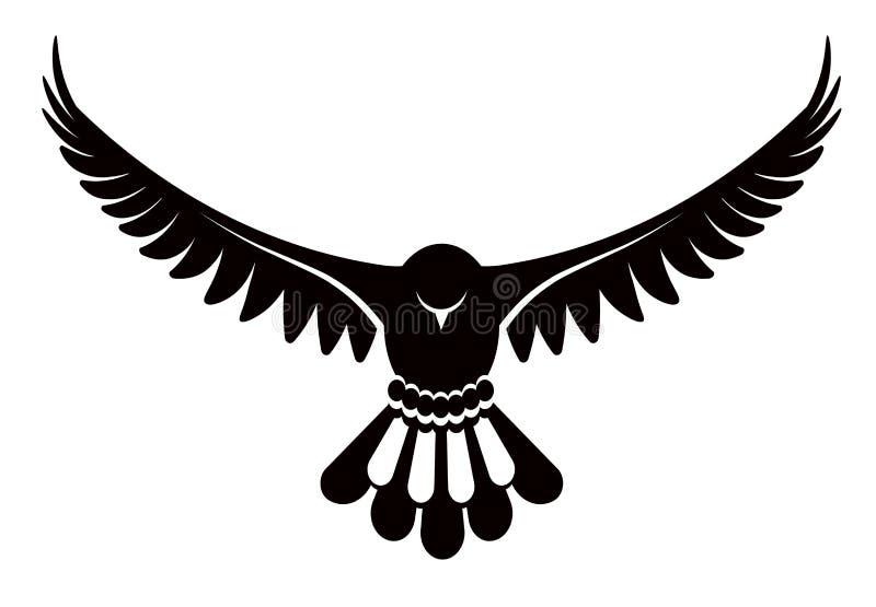 Pombo ou pomba, ilustração branca do vetor do pássaro ilustração do vetor