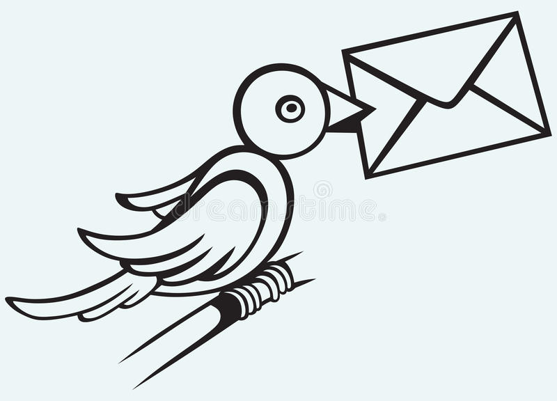 Pombo postal ilustração do vetor