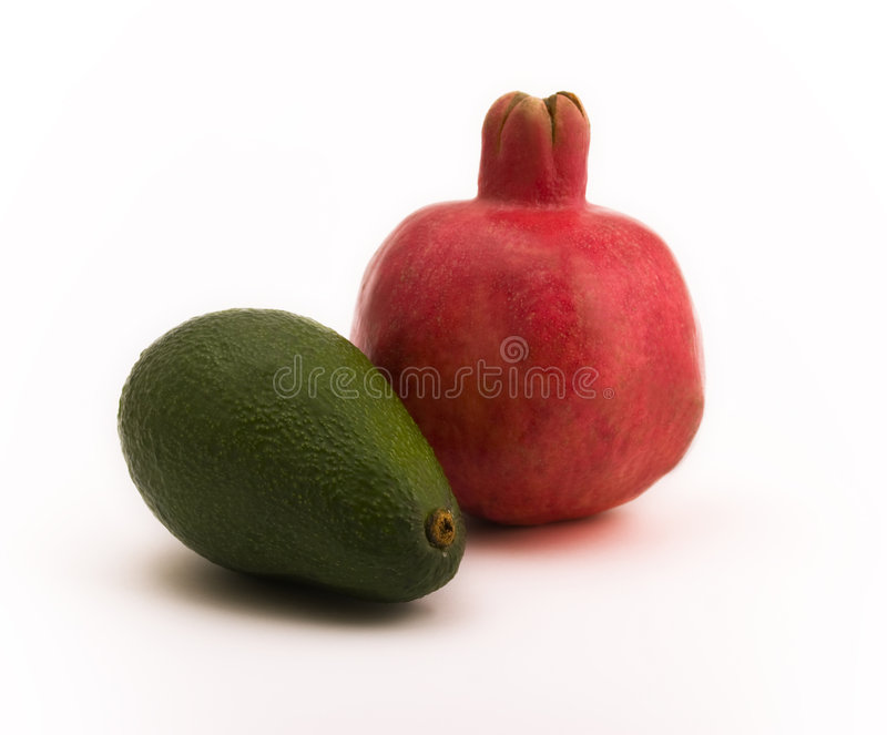 pomegranate авокадоа стоковое изображение rf