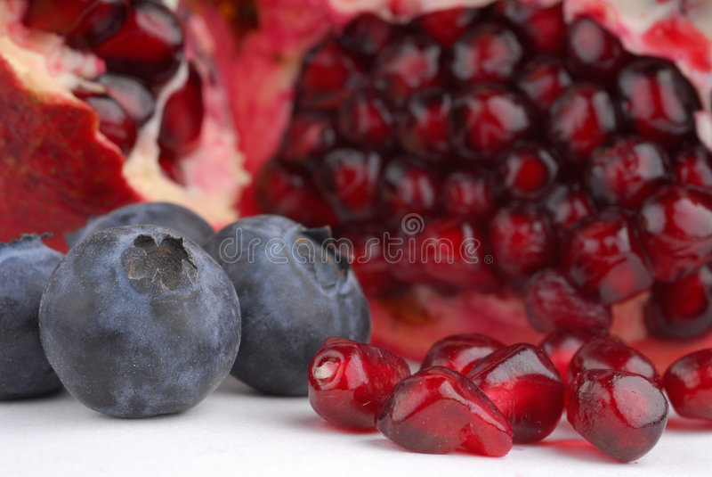 pomegranate голубик стоковая фотография