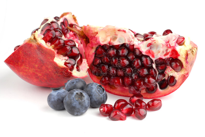 pomegranate голубик стоковые изображения rf