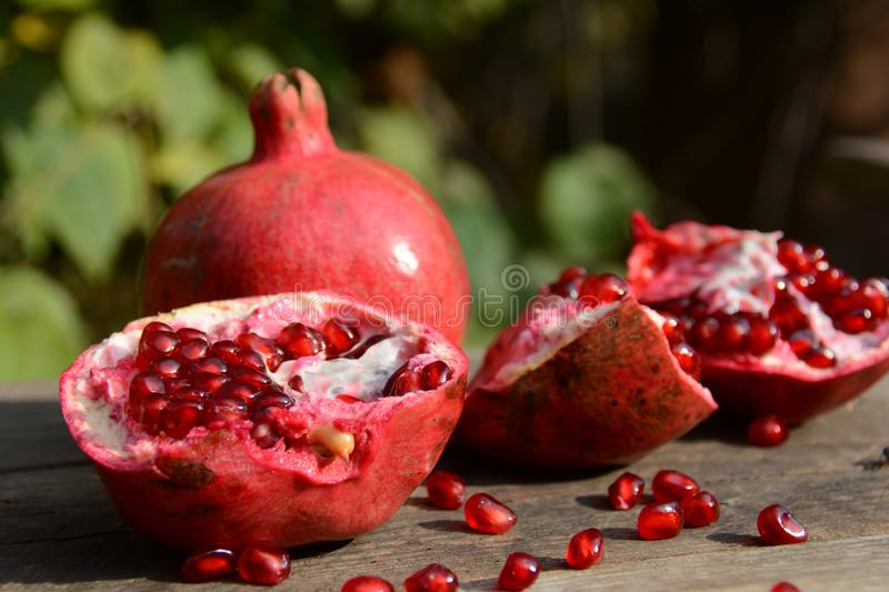 Pomegranate. Best natural vitamin stock photography