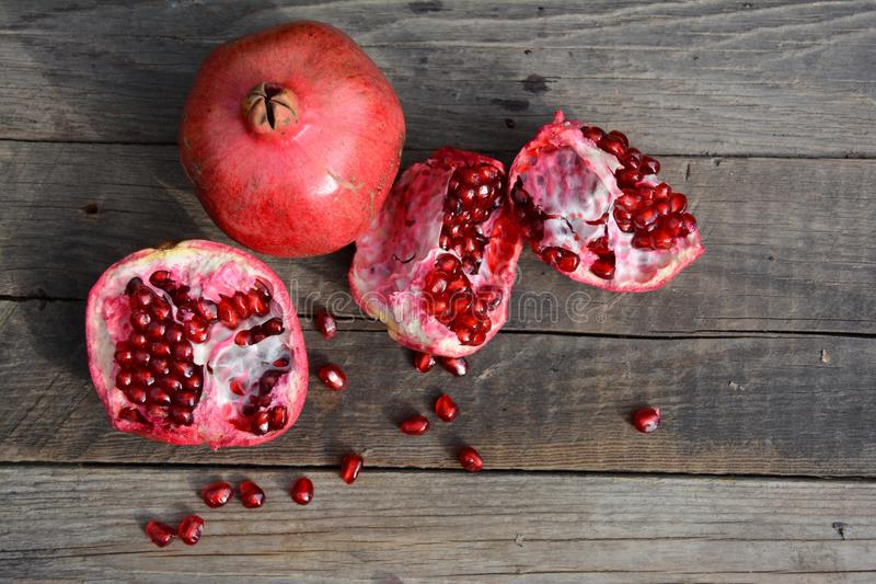 Pomegranate. Best natural vitamin stock images