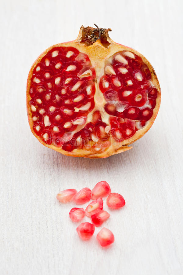 Download Pomegranate cut in half stock image. Image of fruit, color - 11870131
