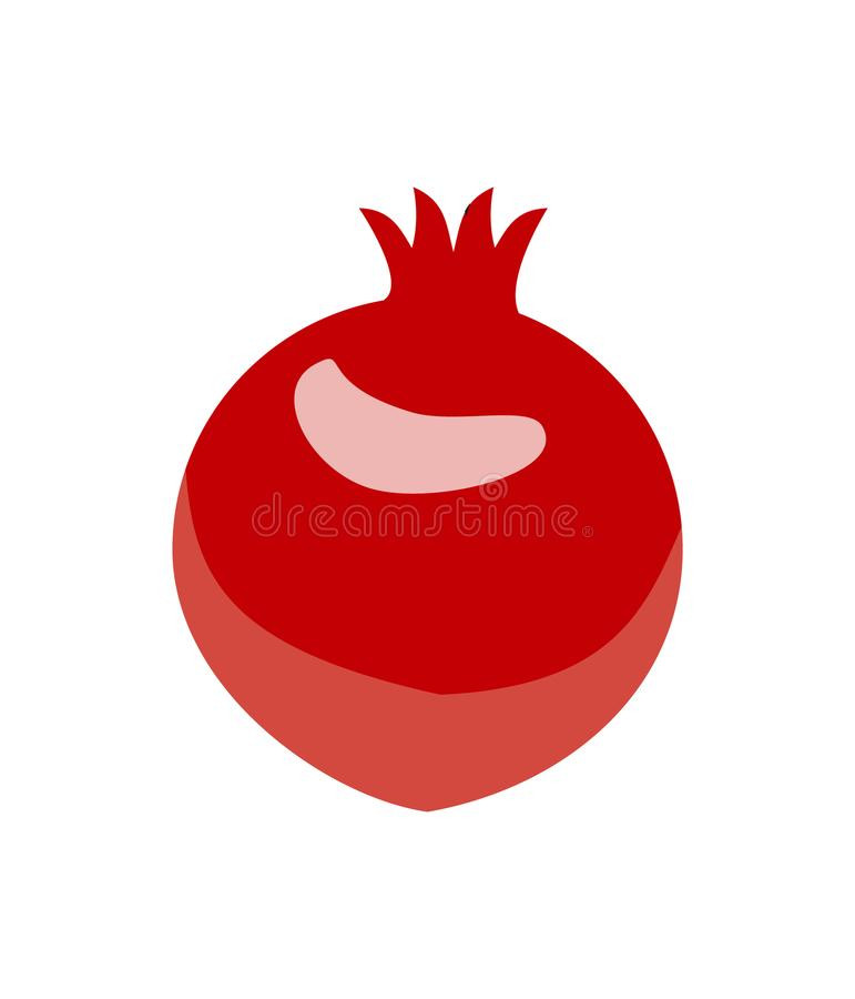 Pomegranate design juicy fresh fruit icon vector template royalty free illustration