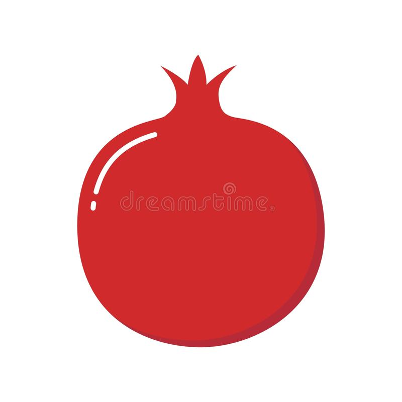 Pomegranate design juicy fresh fruit icon vector template stock illustration
