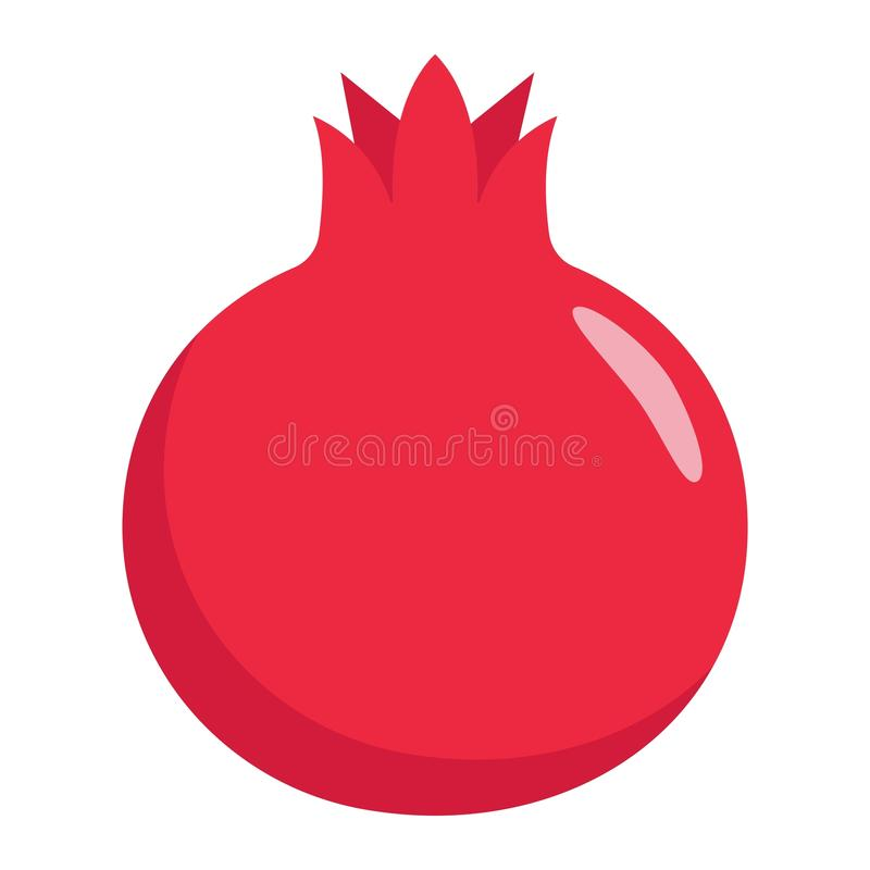 pomegranate flat icon fruit and garnet stock vector illustration rh dreamstime com Grenade Drawing Grenade Graphics