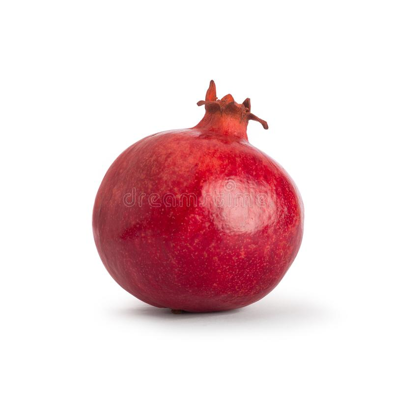 Pomegranate. Fresh raw fruit isolated on white background. With clipping path. royalty free stock photo