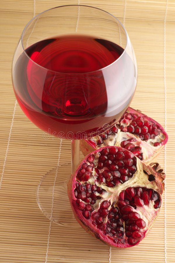 Download Pomegranate And Glass Of Red Wine. Stock Photo - Image: 7527796