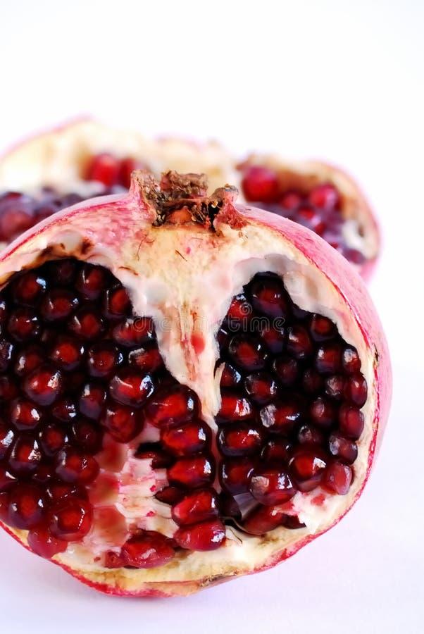 Pomegranate Halves royalty free stock image