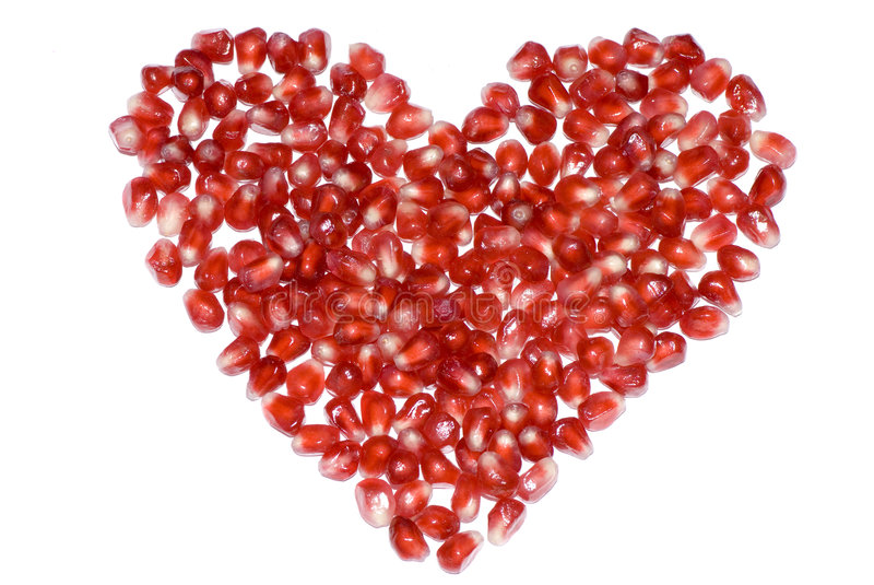 Download Pomegranate heart stock image. Image of healthy, background - 4257787