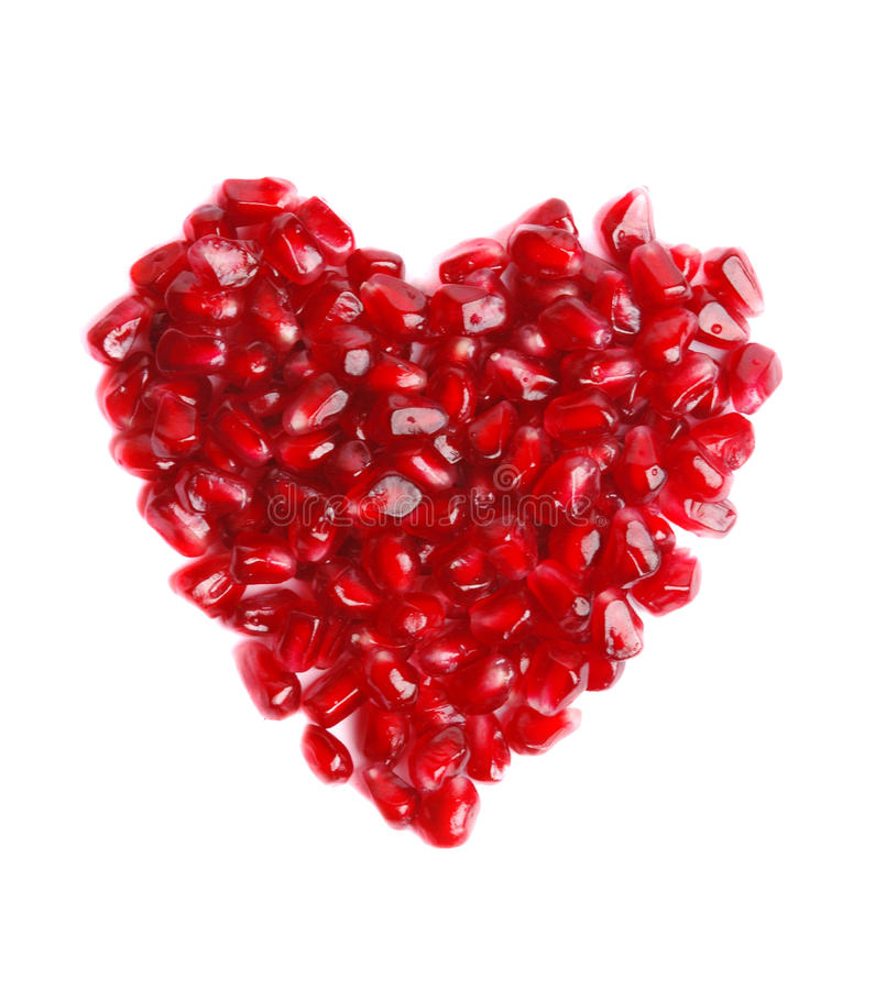 Free Pomegranate In The Form Of Heart Royalty Free Stock Photo - 12286605