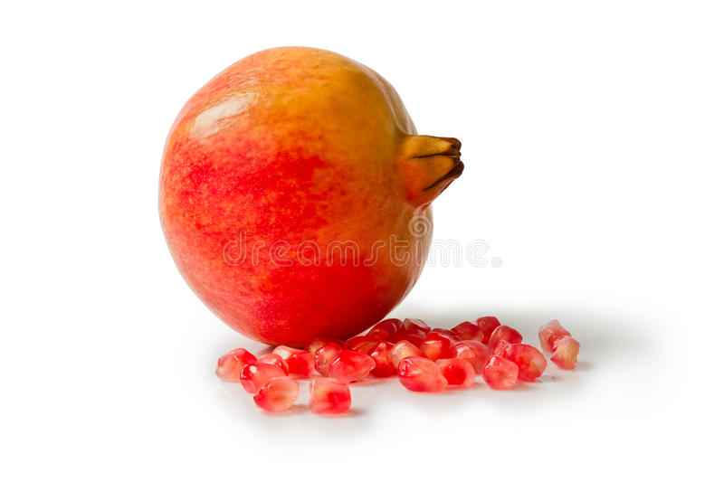 Pomegranate isolated on white background. A Pomegranate isolated on white background stock images