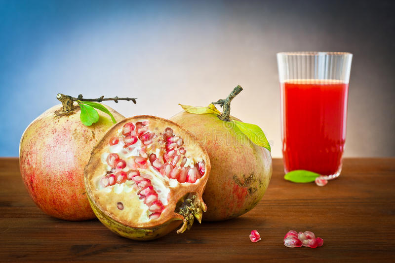 Pomegranate and juice drink