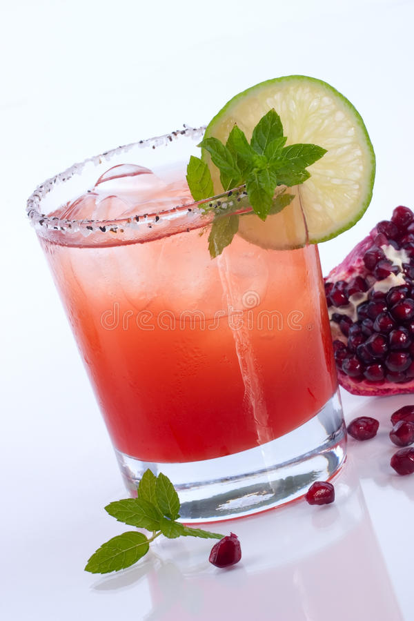 Pomegranate Mojito - Most popular cocktails series stock image
