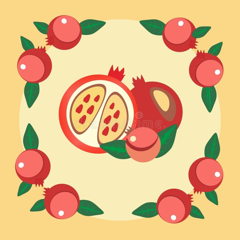 Pomegranate royalty free illustration