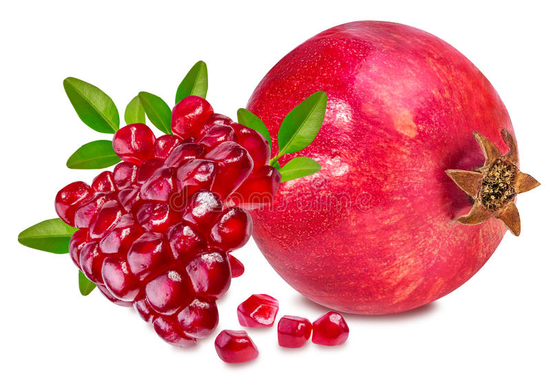 Download Pomegranate på white arkivfoto. Bild av clipping, nytt - 78729484