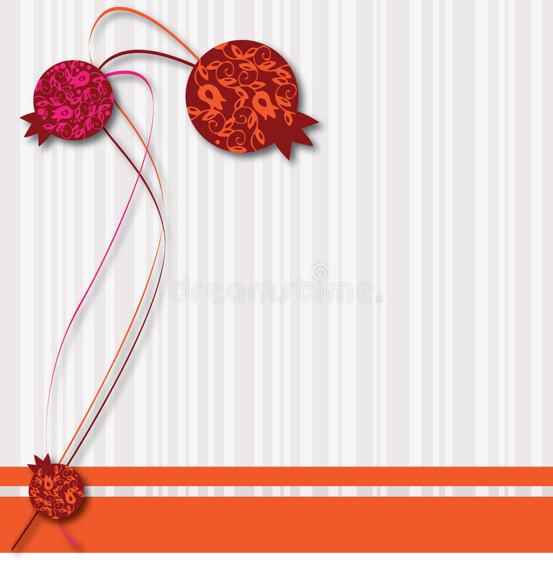 Pomegranate pastel ornaments stock photography
