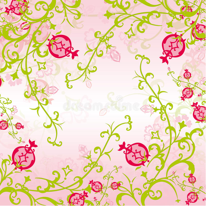 Pomegranate Pattern royalty free stock photos