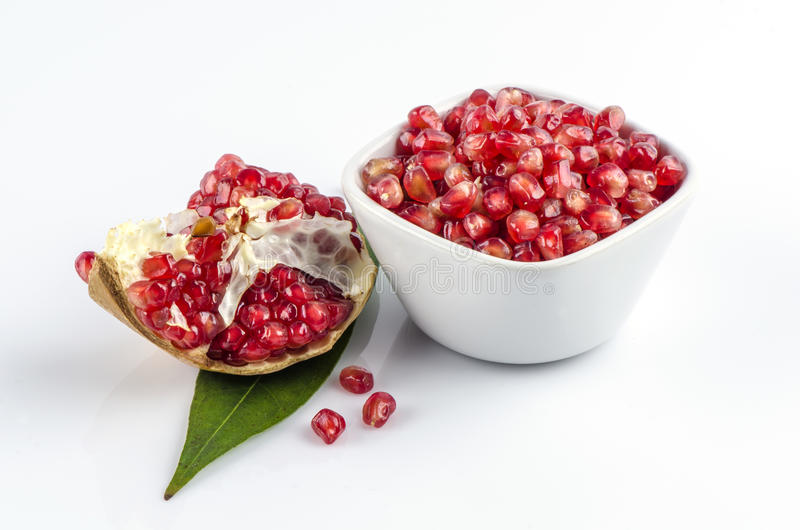 Pomegranate , Punica apple (Punica granatum L.). Pomegranate is a fruit that helps improve the health of the heart (Punica granatum L royalty free stock image