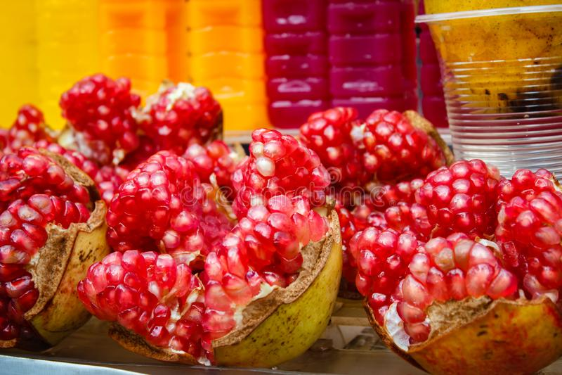 Pomegranate Punica granatum at market, Thailand. Pomegranate Punica granatum at market, Bangkok, Thailand royalty free stock image