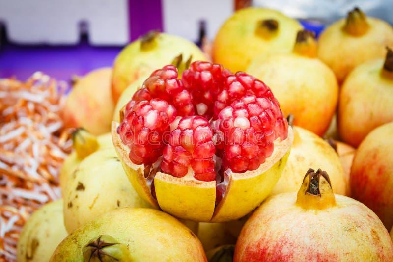 Pomegranate Punica granatum at market, Thailand. Pomegranate Punica granatum at market, Bangkok, Thailand royalty free stock photo