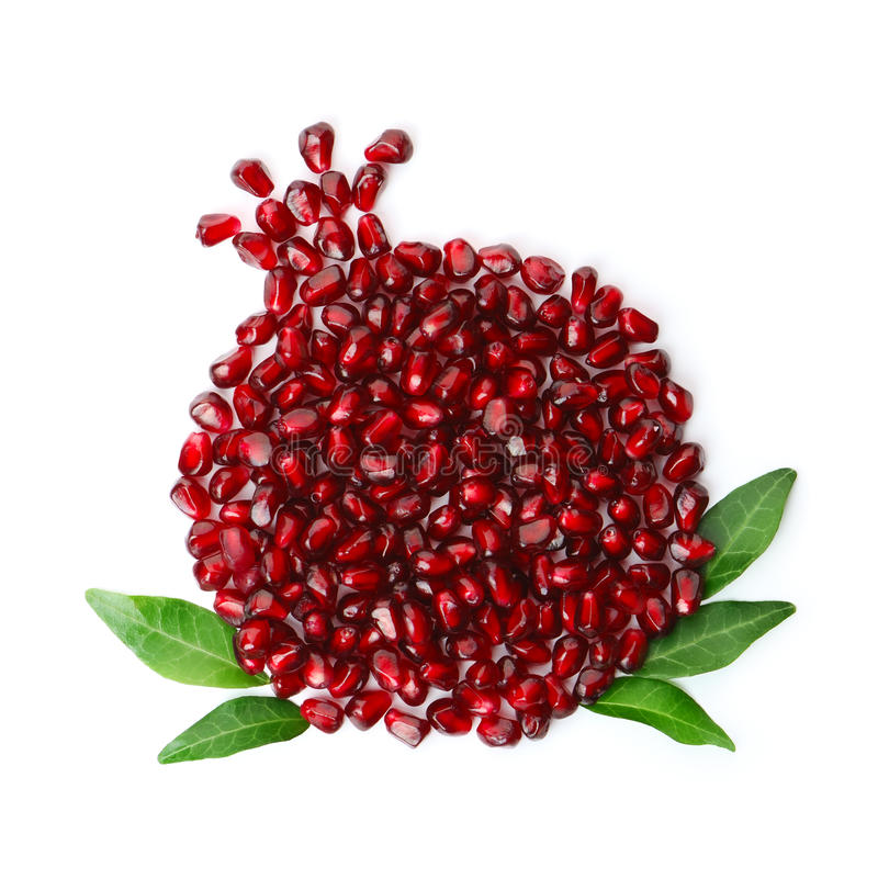 Pomegranate seeds stock photography